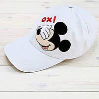 Кепка женская белая с принтом Mickey Mouse микки маус