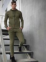 Костюм мужской спортивный Cosmo Intruder хаки Кофта толстовка + штаны + Подарок