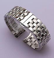 Браслет для годинника з нержавіючої сталі, литої, глянц/мат, пряме/напівкругле завершення. 22 мм, фото 1