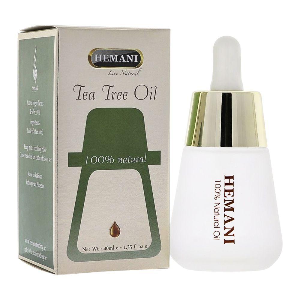 Масло чайного дерева  Премиум  Tea Tree Oil  Hemani 40 мл