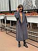 Удлиненное Пальто из кашемира на запах под пояс с отложным воротником (р. 42-46) 17lt183, фото 2