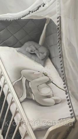 """Набір постільної білизни дитяче ліжечко стібка """"Зайчик"""" - Бортики в ліжечко / захист в дитяче ліжечко, фото 2"""