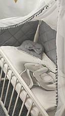 """Набір постільної білизни дитяче ліжечко стібка """"Зайчик"""" - Бортики в ліжечко / захист в дитяче ліжечко, фото 3"""