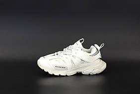 Мужские кроссовки Balenciaga Track Кожаные Белые , Реплика