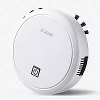 Робот пылесос Clean ES23, автоматический пылесос на аккумуляторе, умный робот который сам убирает