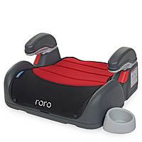 Бустер ME 1044 RORO Ruby Black дитячий, з підлокотником і підсклянником, червоно-чорний.