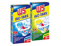 W5 таблетки для очистки туалета Breeze/Lemon 16 шт