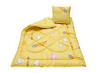 Комплект дитячий ковдра + подушка (110х140 см,40х40 см) Жовтий