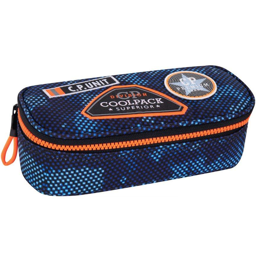 Шкільний пенал без наповнення CoolPack Campus Badges Navy Синій (B66050)