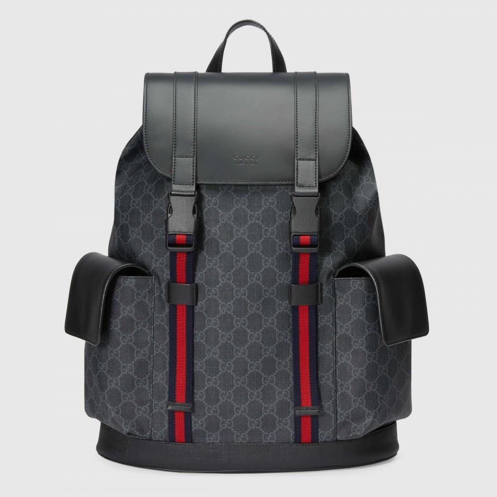 Рюкзак Gucci Soft GG Supreme Backpack Black/Grey