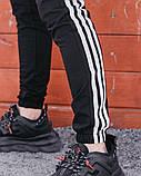 Спортивні штани в стилі Adidas Thre line чорні., фото 7