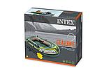 """Двомісний човен надувний Intex """"Seahawk 2 SET"""", 68347, з насосом і веслами, 236*114*37 см, фото 2"""