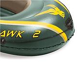 """Двомісний човен надувний Intex """"Seahawk 2 SET"""", 68347, з насосом і веслами, 236*114*37 см, фото 3"""