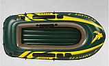 """Двомісний човен надувний Intex """"Seahawk 2 SET"""", 68347, з насосом і веслами, 236*114*37 см, фото 5"""