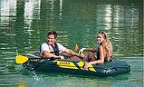 """Двомісний човен надувний Intex """"Seahawk 2 SET"""", 68347, з насосом і веслами, 236*114*37 см, фото 8"""