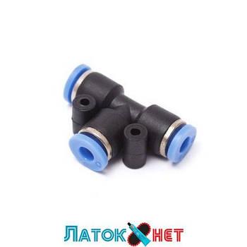 Фитинг T-образный для пластиковых трубок 8 мм SPE08 Partner