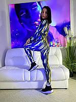 Жіночий спортивний комбінезон світиться в темряві Кобра., фото 1
