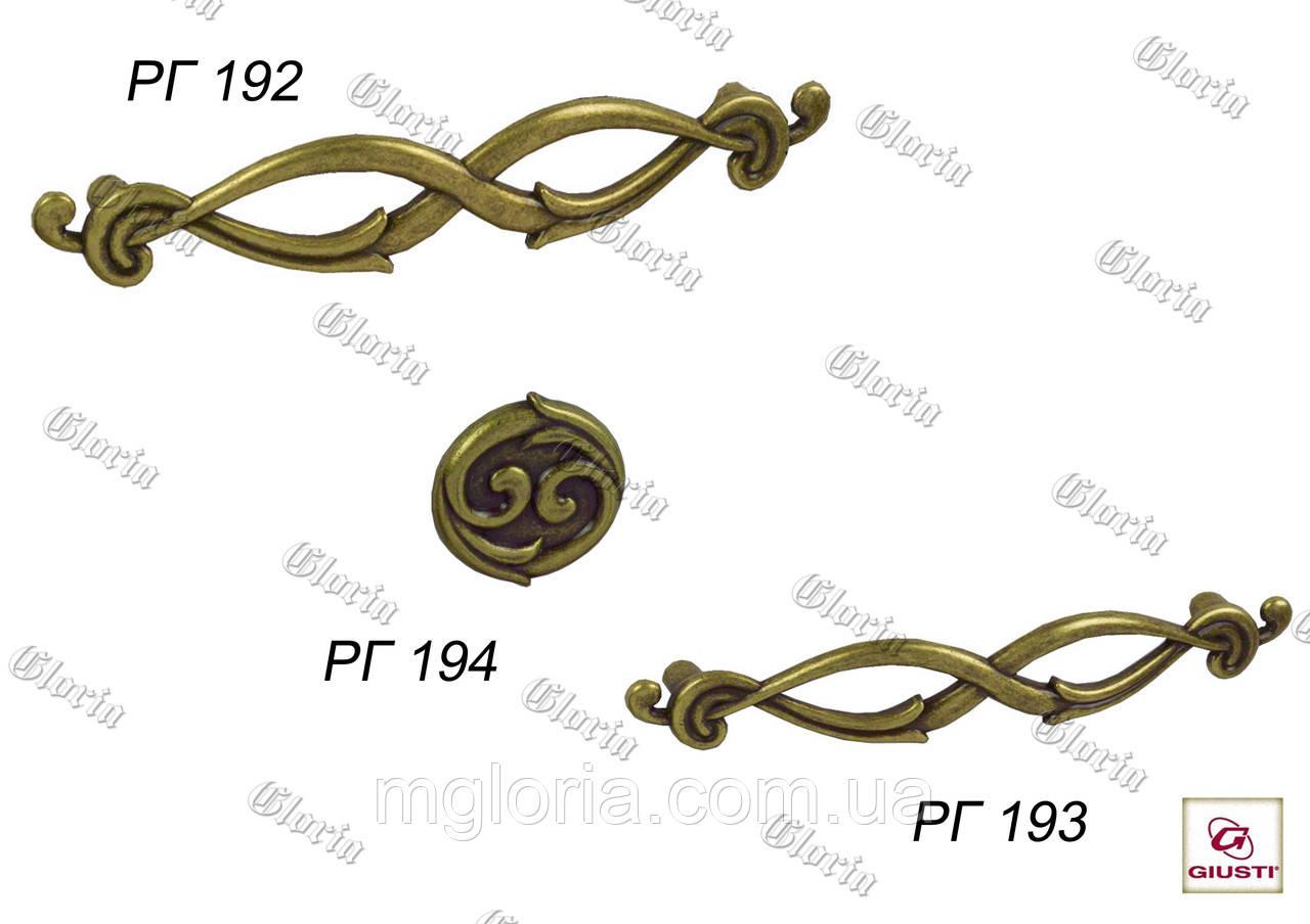 Ручки мебельные  РГ 192, РГ 193, РГ 194