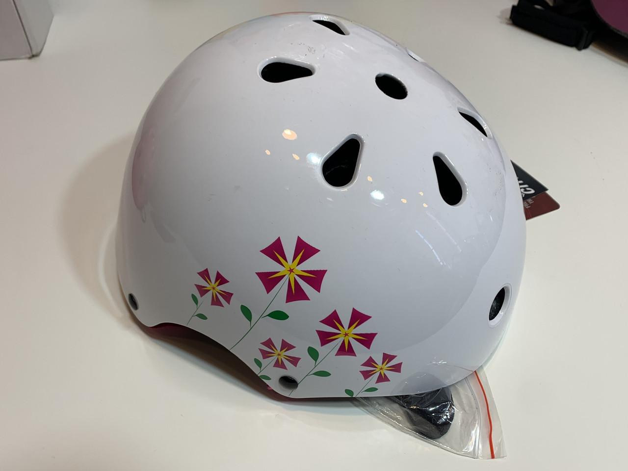 Детский шлем Crivit  49-54 см белый с цветками Германия