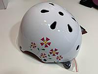 Детский шлем Crivit  49-54 см белый с цветками Германия, фото 1