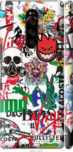 """Чехол на Sony Xperia XZ4 Many different logos """"4022c-1623-2448"""""""