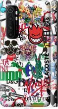 """Чехол на Mi Note 10 Lite Many different logos """"4022c-1937-2448"""""""