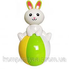 Дитяча іграшка Неваляшка 6521 із звуковими ефектами (Зайчик)