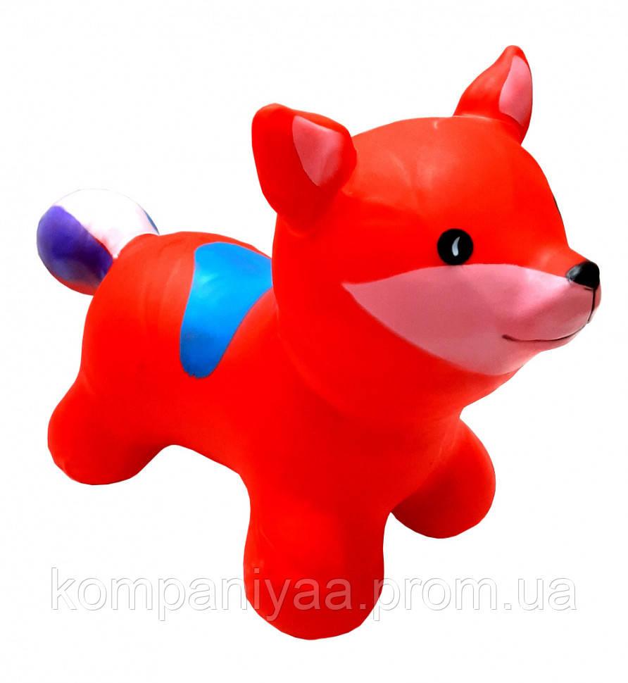 """Детская игрушка-прыгун резиновая надувная """"Лисица"""" BT-RJ-0074 (Красный)"""