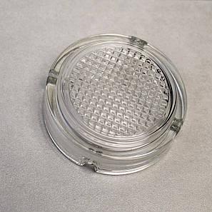 Кругла скляна попільничка з рифленим дном ОСЗ (4c1162), фото 2