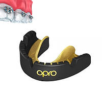 Капа OPRO Gold Braces Black/Goldl (art.002227005), фото 1