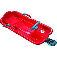 Зимові санки Plastkon Ski Bob червоні