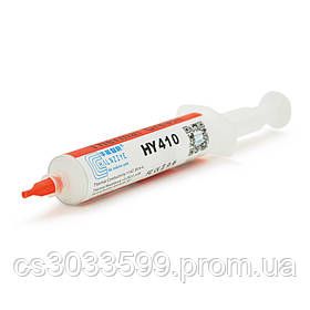 Паста термопровідна HY-410 30g, шприц, White,> 1,42 W / m-K, <0.262 ° C-in2 / W, -30 ° ≈280 °, У в'язкість -1K