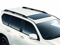 Рейлинги Toyota Land Cruiser Prado 150 2017- Черные усиленные