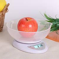 Кухонные весы электронные с чашей до 5кг