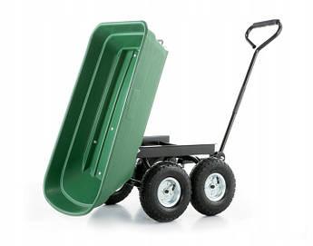 Тачка, візок, садовий самоскид 3 в 1 HIGHER Professional 350 кг (100 л) Польща
