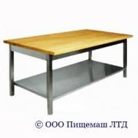 Стол для мучных работ с деревянной столешницей СПР-МР