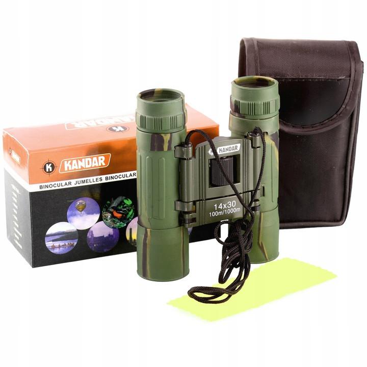 Бінокль Kandar Compact 14x30 BK-7 HD Полювання, туризм, плавання