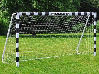 Футбольные ворота Hudora 300x200х90 с сеткой Германия