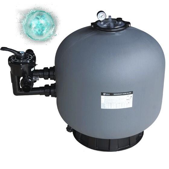 Фільтр для очищення води басейну Emaux SP500 (10 м3/год, D527). Бочка фільтра для засипання піском