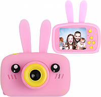 Дитячий фотоапарат цифровий «Зайчик» XL 500R Рожевий