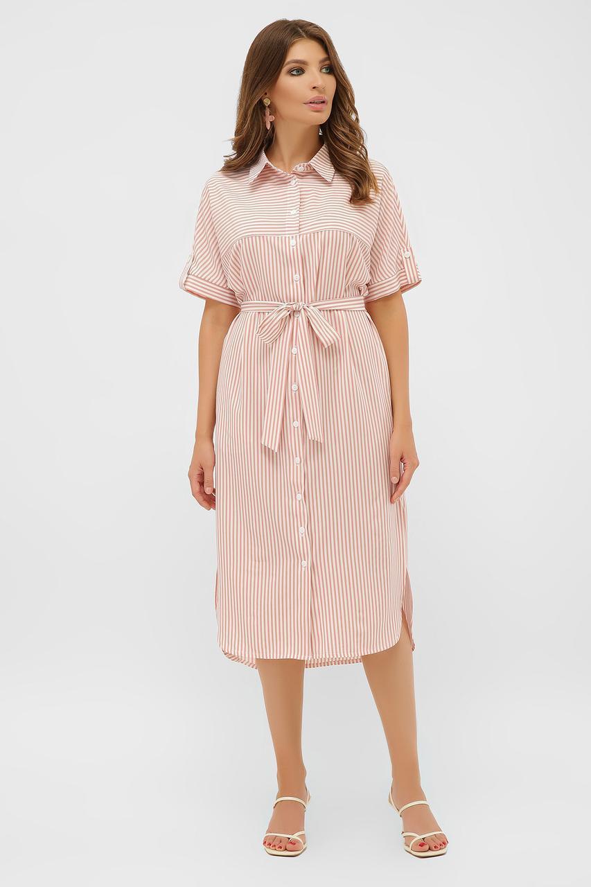 Летнее  платье-рубашка Дарья к/р