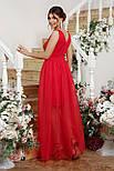 Вечернее длинное красное  платье Шелли б/р, фото 2