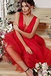 Вечернее длинное красное  платье Шелли б/р, фото 3