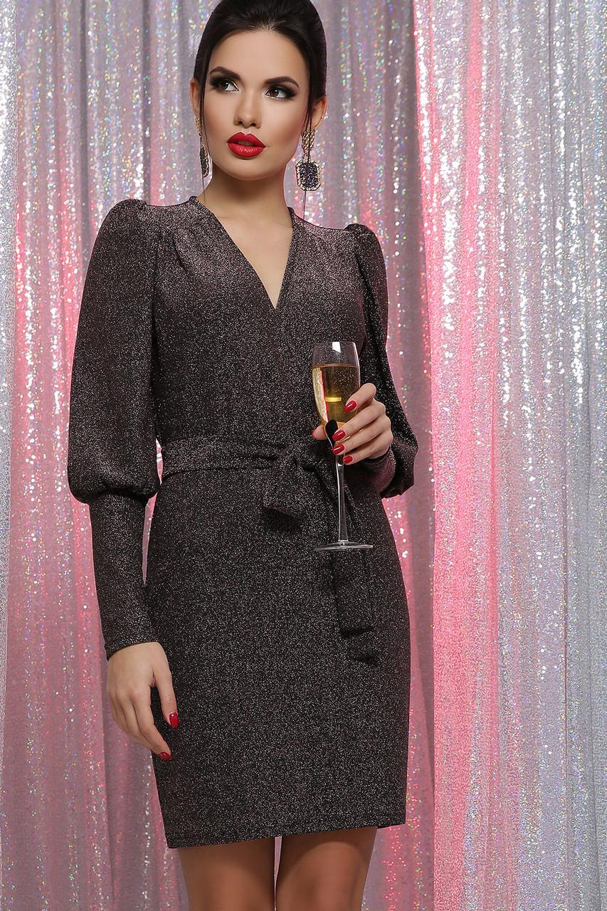 Нарядное платье из трикотажа люрекс Зита д/р