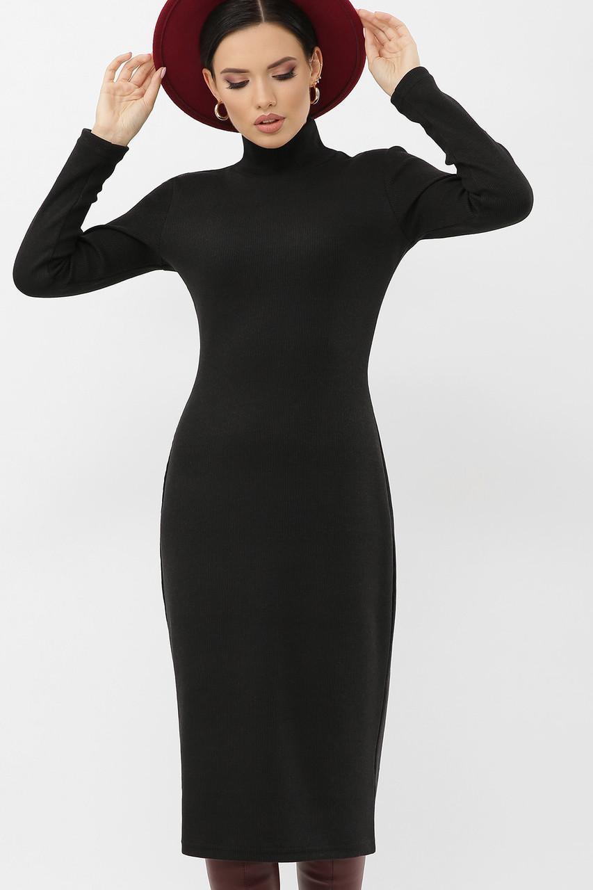 Теплое  платье  гольф из трикотажа резинка Ульрика д/р