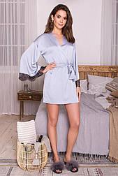 Жіночий шовковий халат Торал д/р