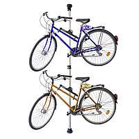 Телескопічна стійка-вішалка для 2х велосипедів