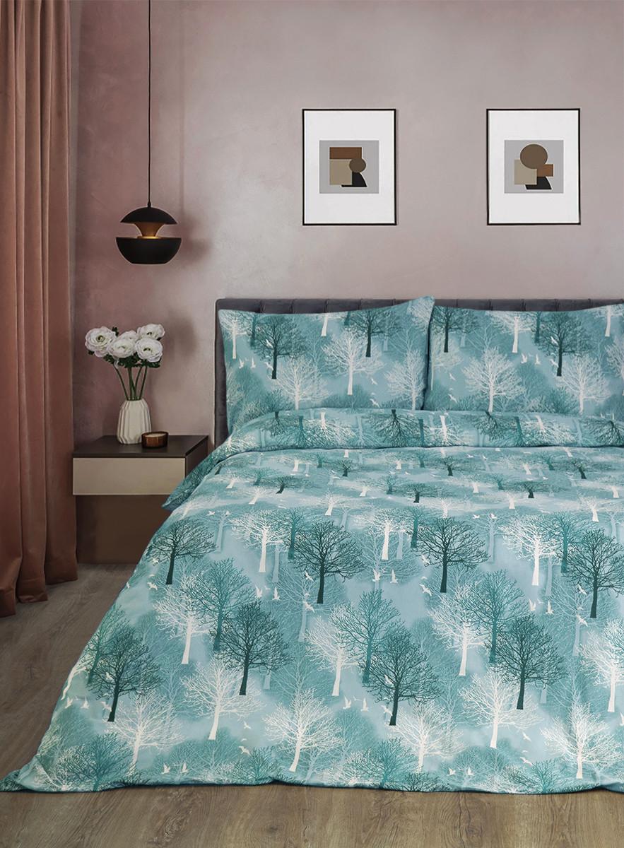 Постільна білизна Lotus Ranforce - Wood зелений полуторна