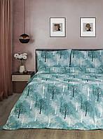 Постельное белье Iris Home Ranforce - Wood зеленый евро