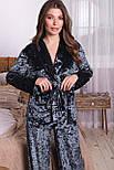 Жіночий домашній брючний велюровий костюм Лючі, фото 2